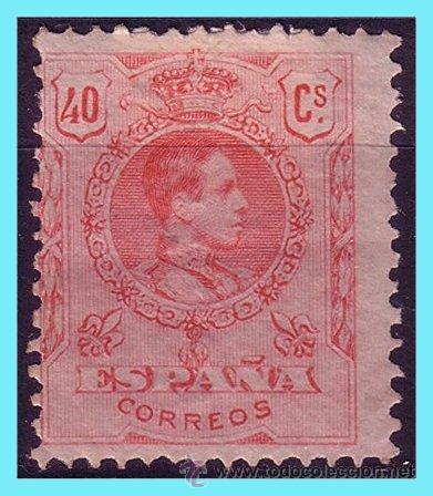 1909 ALFONSO XIII, TIPO MEDALLÓN, EDIFIL Nº 276 * (Sellos - España - Alfonso XIII de 1.886 a 1.931 - Nuevos)