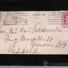 Sellos: CARTA DE SEVILLA A MADRID.DE 2 FEBRERO 1930. FRANQUEADO CON SELLO 317.. Lote 27395645