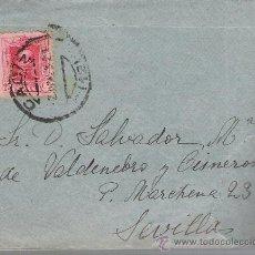 Sellos: CARTA DE CADIZ A SEVILLA. DE 2 DE JUNIO DE 1925. FRANQUEADO CON SELLO 317.. Lote 27417549