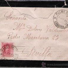 Sellos: CARTA DE PALMA DEL RÍO A SEVILLA. DE 1 DE ABRIL DE 1929. FRANQUEADO CON SELLO 317.. Lote 27429031