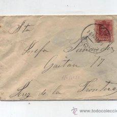 Sellos: CARTA DE CADIZ A JEREZ DE LA FRONTERA.DE 13-MARZO 1924. FRANQUEADO CON SELLO 317.. Lote 27762491