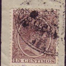 Sellos: ESPAÑA. (CAT. 219). 15 CTS. MAT. LACRADOR: * AMBULANTE/DE/VALENCIA A BARNA/CERTIFICADO *. RARÍSIMO.. Lote 28313877