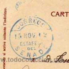 Sellos: ESTAFETA CORREOS. SENADO. SOBRE TARJETA PSOTAL 1902.. Lote 29087950