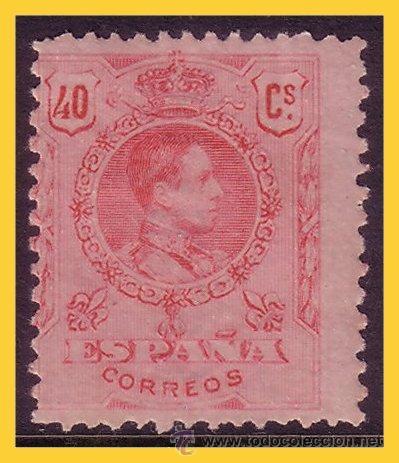 1909 ALFONSO XIII MEDALLÓN, EDIFIL Nº 276 * * (Sellos - España - Alfonso XIII de 1.886 a 1.931 - Nuevos)