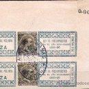 Sellos: 1895-96.- PAREJA CON SELLO IMPRESO DE ALFONSO XIII DE 20 CTS. IMPUESTO SOBRE POLVORA DE CAZA. Lote 30749840