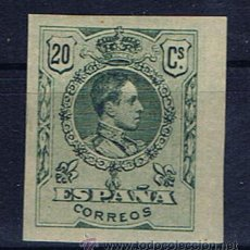 Sellos: ALFONSO XIII MEDALLON 1909 SIN DENTAR NUEVO* EDIFIL 272. Lote 31355589