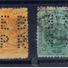 Timbres: ALFONSO XIII MEDALLON 1909 EDIFIL 270-275 PERFORADO E B P R. Lote 34053737