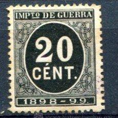 Timbres: EDIFIL 239. 20 CTS IMPUESTO DE GUERRA. AÑO1898. NUEVO SIN GOMA. . Lote 34601481