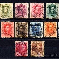 Sellos: *** MUY BONITA SERIE ALFONSO XIII 1922-1930 TIPO VAQUER. COMPLETA. EDIFIL 310-323. Lote 34627339