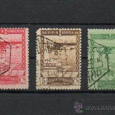 Sellos: ESPAÑA=EDIFIL Nº 448/449/452=EXPO SEVILLA-BARNA=MATASELLADO=CATALOGO +74 €=REF:0150. Lote 35253747