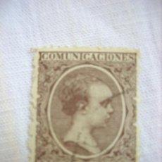Sellos: EDIFIL 219 ALFONSO XIII TIPO PELON 1889-1899 15 CENTIMOS DE PESETA USADO. Lote 36519922
