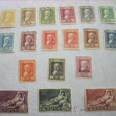 Sellos: EDIFIL 499/516 NUEVOS QUINTA DE GOYA EN LA EXPOSICION DE SEVILLA 1930. Lote 35962807