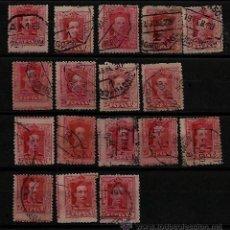 Sellos: 1922 ED 317 ALFONSO XIII MATASELLOS AMBULANTES Y CENTRADOS VARIANTES. Lote 36322112