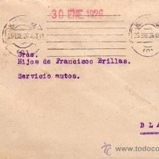 Sellos: ESPAÑA. 1926. SOBRE DE BARCELONA A BLANES. 25 CTS. VARIEDAD DENTADO DESPLAZADO. LLEGADA. MUY BONITO.. Lote 36338039