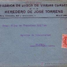 Sellos: ESPAÑA. 1928. SOBRE PUBLICITARIO DE MATARÓ (BARCELONA) A BLANES. 25 CTS. LLEGADA. BONITO.. Lote 36348221