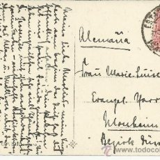 Sellos: BARCELONA TP MALLORCA CON MAT ESTACION MZA SELLO ALFONSO XIII. Lote 36771511