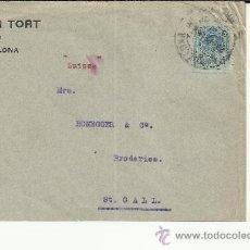 Sellos: BARCELONA CC SELLO ALFONSO XIII MEDALLON. Lote 36855495
