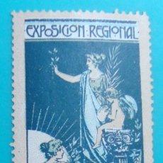 Sellos: VIÑETA SELLO EXPOSICION REGIONAL VALENCIA 1909 - NUEVO CON FIJASELLOS. Lote 37223969
