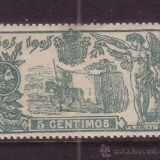 Sellos: ESPAÑA 257* - AÑO 1905 - 3º CENTENARIO DE LA PUBLICACION DEL QUIJOTE. Lote 37648930