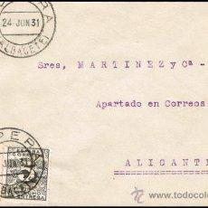 Sellos: ALBACETE - EDI O 592 + 495 - CARTA CIRC. - MAT. FECH.