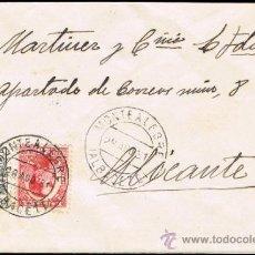 Sellos: ALBACETE - EDI O 592 + 495 - CARTA CIRC. - MET. FECH.