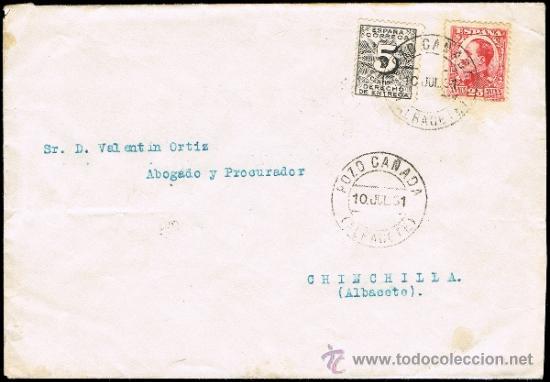 ALBACETE - EDI O 492 + 592 - CARTA CIRC. - MAT. FECH.