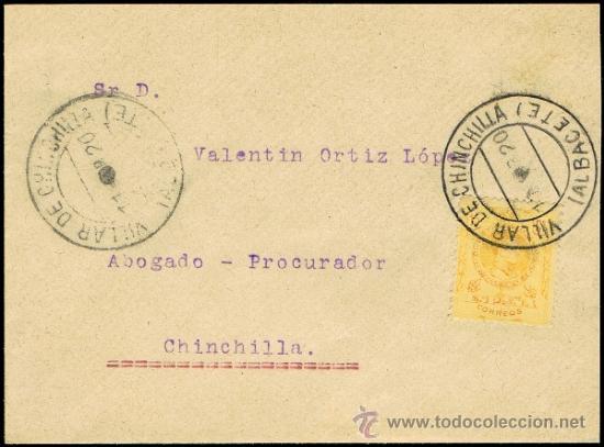 ALBACETE - EDI O 270 - CARTA CIRC. - MAT. FECH.