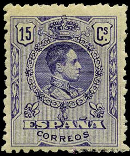 1909.- ALFONSO XIII MEDALLON. 15 CTS. NUEVO. MUY BIEN CENTRADO EDIFIL Nº 270* CATº. +25 € (Sellos - España - Alfonso XIII de 1.886 a 1.931 - Nuevos)