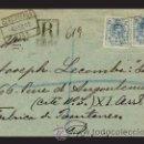 Sellos: 1912.- PAR DE SELLOS 25 CTS. EN CARTA