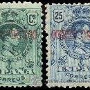 Sellos: 1920.-ALFONSO XIII 5 Y 25 CTS. C. AEREO NUEVOS CON SOBRECARGA INVERTIDA. EDIFIL 292HI - 294HI. RARO. Lote 38189085