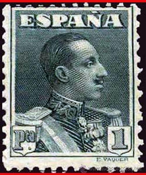 1922.- VARIEDAD DE PERFORACION DENT. 11 1/4 DE PEINE DEL 1 PTA. ALFONSO XIII. EDIFIL Nº 321DC * (Sellos - España - Alfonso XIII de 1.886 a 1.931 - Nuevos)