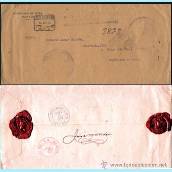 1930.-CERTIFº. CON FRANQUICIA POSTAL PAN-AMERICANA DEL CONSULADO DE CUBA EN MADRID CIRCULADO. (Sellos - España - Alfonso XIII de 1.886 a 1.931 - Cartas)