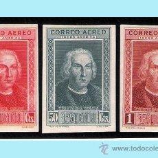 Sellos: 1930.- VALORES 25 Y 50 CTS. Y 1 PTS. SIN DENTAR. COLON AEREO IBEROAMERICA. Nº 561S/63S*. Lote 38196312
