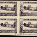 Sellos: 1930.- BLOQUE DE 4 DEL 20 CTS. SIN DENTAR Y CAMBIO DE COLOR