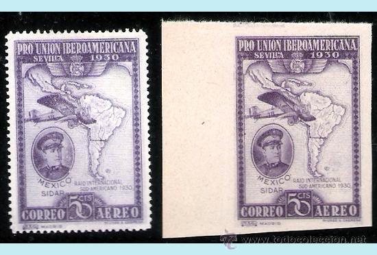 1930.- 50 CTS. EJEMPLARES DENTADO Y SIN DENTAR CON COLOR CAMBIADO.Nº 586CC/CCS** LUJO. (Sellos - España - Alfonso XIII de 1.886 a 1.931 - Nuevos)