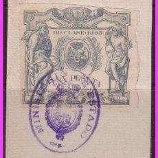 Francobolli: FISCALES 1895 CLASE 12 º 1 PTA VERDE (O) MAT. MINISTERIO DEL ESTADO, LUJO. Lote 38337196