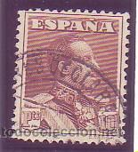 323- ALFONSO XIII VAQUER. 1922-30. 10 P. CAST. AMARILLENTO. USADO LUJO. CAT. 22,50 €. (Sellos - España - Alfonso XIII de 1.886 a 1.931 - Usados)
