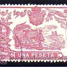 Sellos: ESPAÑA 264 - QUIJOTE 1905. 1 P. CARMÍN. USADO LUJO. CAT. 125€.. Lote 38798868
