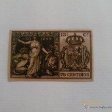 Sellos: POLIZA 13ª CLASE - 1899 - 75 CENTIMOS. Lote 39373535