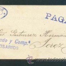 Sellos: 1911.- CADIZ A JEREZ DE LA F.. Lote 39435001