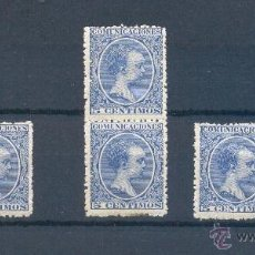 Sellos: EDIFIL 215 **.- 5 CTS ALFONSO XIII TIPO PELON. Lote 39747842