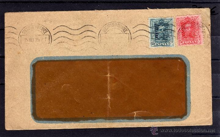 ISIDORO RIES VALENCIA CARTA 1925, SELLOS EDIFIL 315, 317, 15 Y 25 CTS, ALFONSO XIII TIPO VAQUER (Sellos - España - Alfonso XIII de 1.886 a 1.931 - Cartas)