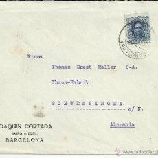 Sellos: BARCELONA CC A ALEMANIA SELLO ALFONSO XIII VAQUER 40 CTS. Lote 39852441