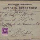 Sellos: ESPAÑA. (CAT. 246DH). 1907. SOBRE DE CAMPONARAYA (LEÓN) A MADRID. 15 CTS. VARIEDAD DENTADO. RARÍSIMO. Lote 37350791
