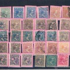 Sellos: CONJUNTO DE 39 SELLOS DE ALFONSO XIII TIPO PELÓN. USADOS Y NUEVOS. Lote 40314506