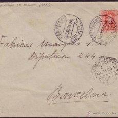 Sellos: ESPAÑA.(CAT.317A).1929 (19 ENE).SOBRE PUBLICIDAD.CORREO AÉREO DE SEVILLA A BARCELONA.RARÍSIMA.LUJO.. Lote 26741728