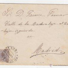 Sellos: CARTA DE PALMA DE MALLORCA A MADRID, MATASELLOS SALIDA Y LLEGADA 1897, SELLO ALFONSO XIII TIPO PELÓN. Lote 40530822