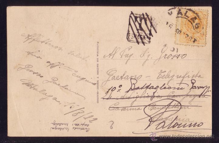 ESPAÑA.(CAT. 271).1922. T. P. DE MÁLAGA A ITALIA.REEXPEDIDA.MARCA DE TASA PUESTA POR ERROR.MUY RARA. (Sellos - España - Alfonso XIII de 1.886 a 1.931 - Cartas)