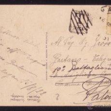 Sellos: ESPAÑA.(CAT. 271).1922. T. P. DE MÁLAGA A ITALIA.REEXPEDIDA.MARCA DE TASA PUESTA POR ERROR.MUY RARA.. Lote 27326912