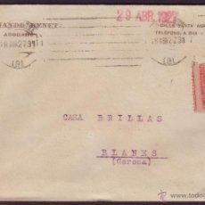 Sellos: ESPAÑA. (CAT. 317A).1927. SOBRE DE BARCELONA. 25 CTS. VARIEDAD DENTADO * SALTO DEL PEINE *.MUY RARA.. Lote 25499695